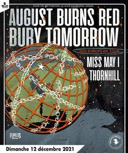 News CONCERTS AUGUST BURNS RED ET BURY TOMORROW AU NINKASI KAO LE 12 DÉCEMBRE 2021