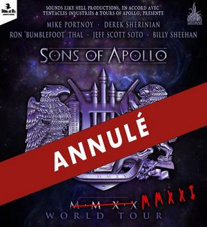 CONCERTS SONS OF APOLLO ANNULE SA TOURNÉE